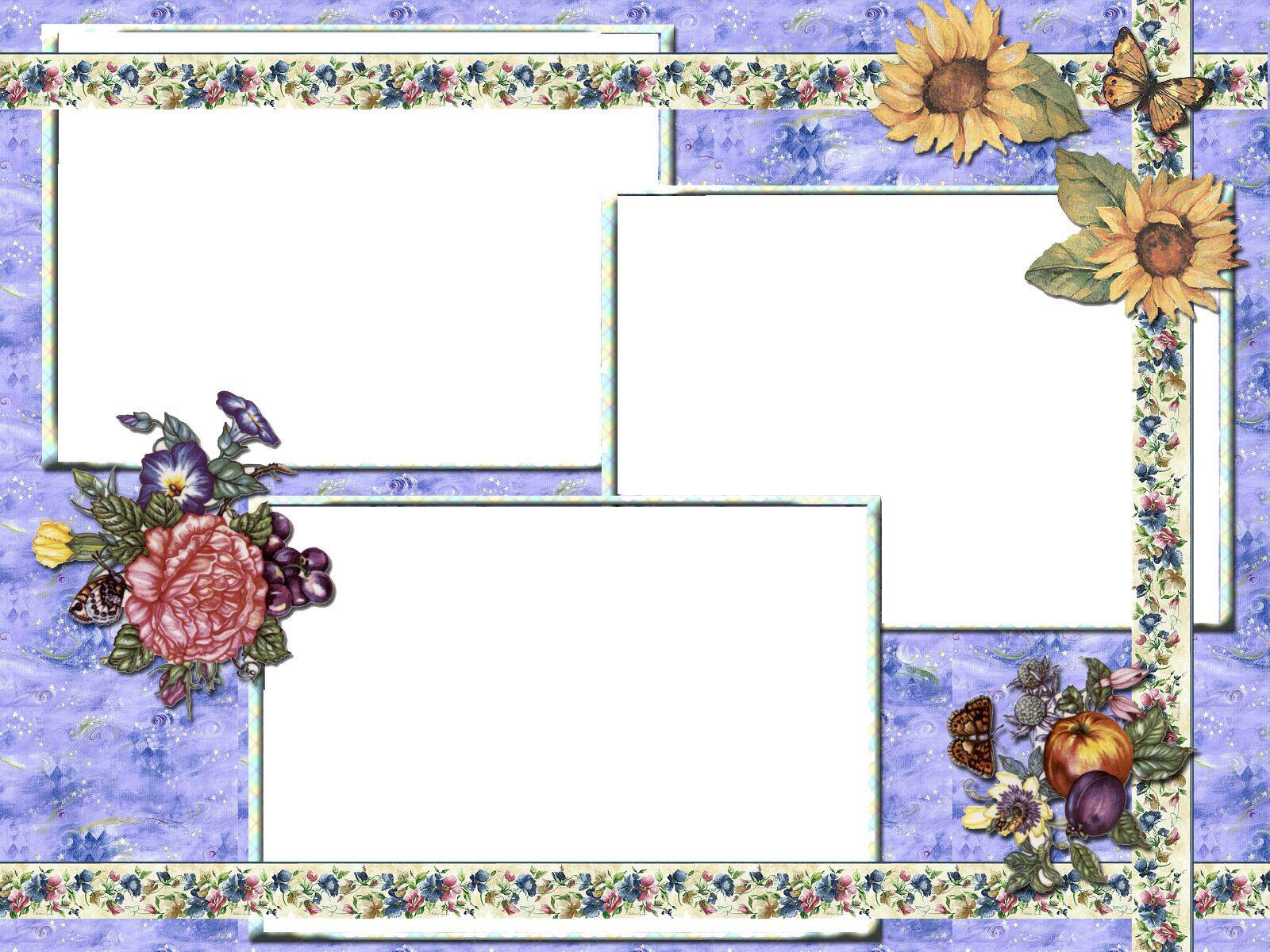 Рамки украшенные цветами