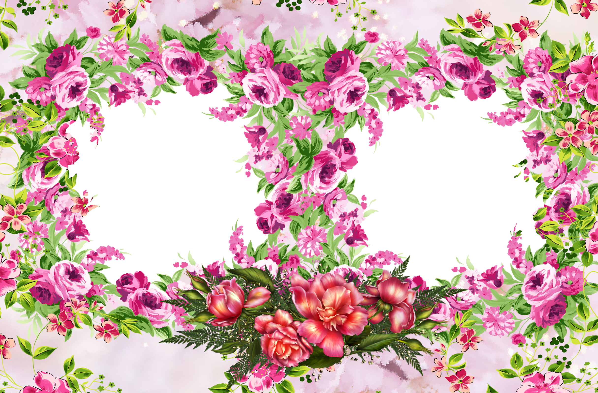 Фон для фото в виде цветов