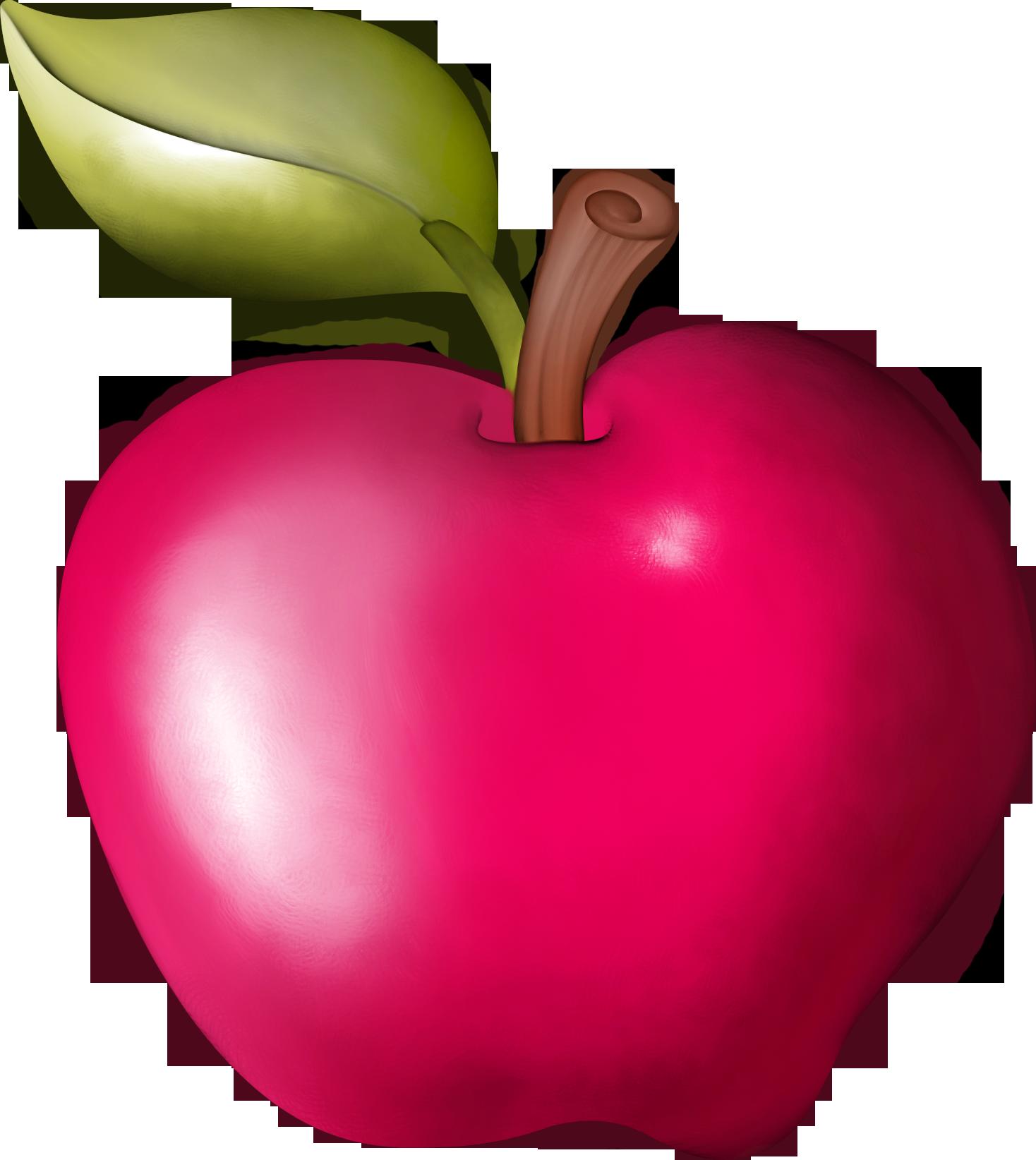 Фрукты, овощи и ягоды растровый клипарт Зеленое Яблоко Клипарт