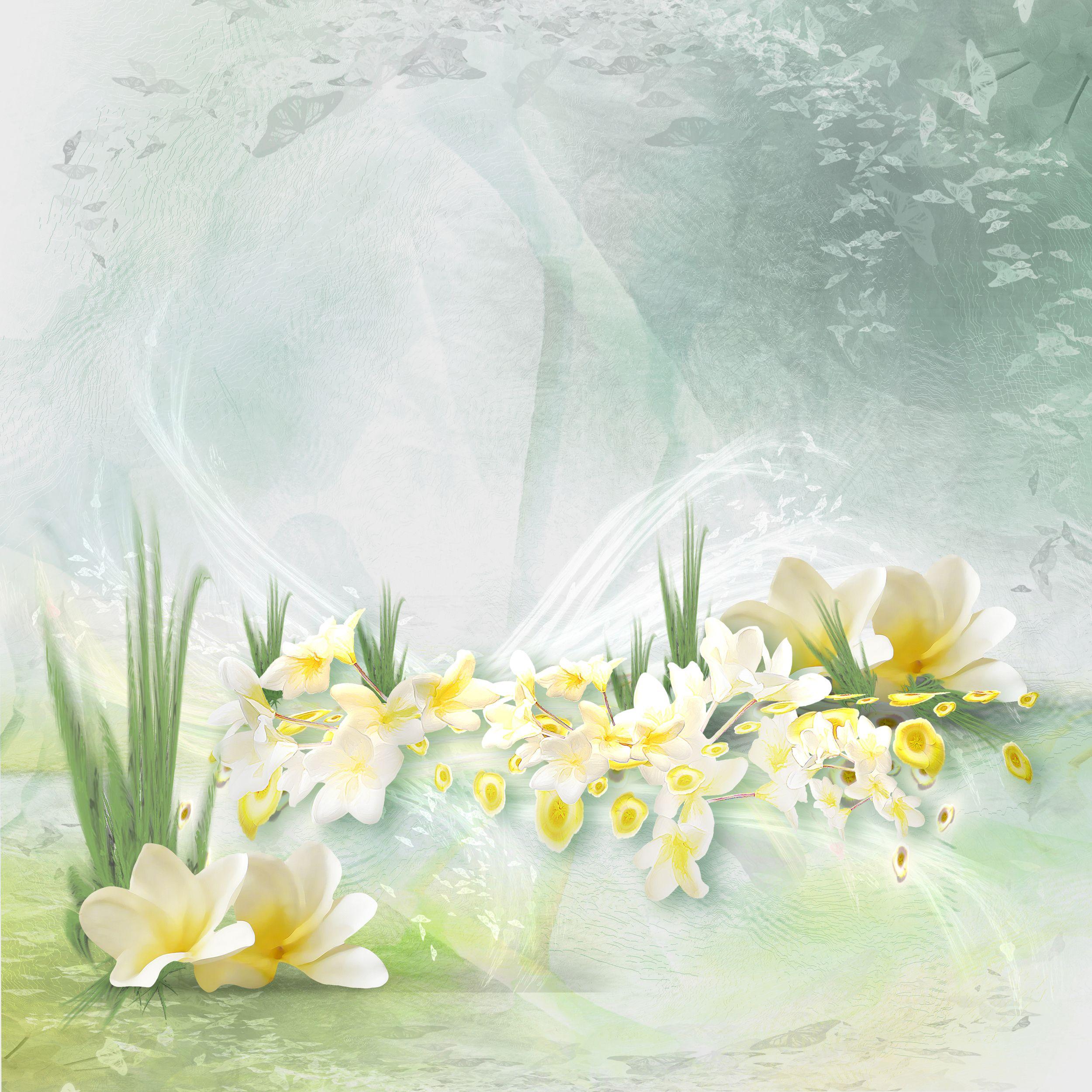 Открытки большие с цветами