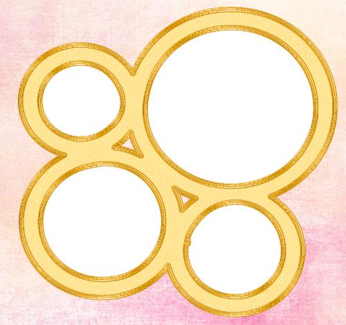 фоторамка четыре круга