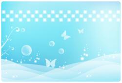 белые бабочки на голубом