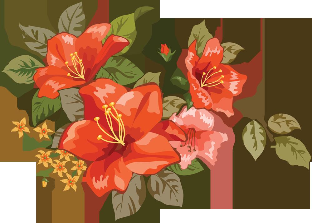 Фото цветы картина