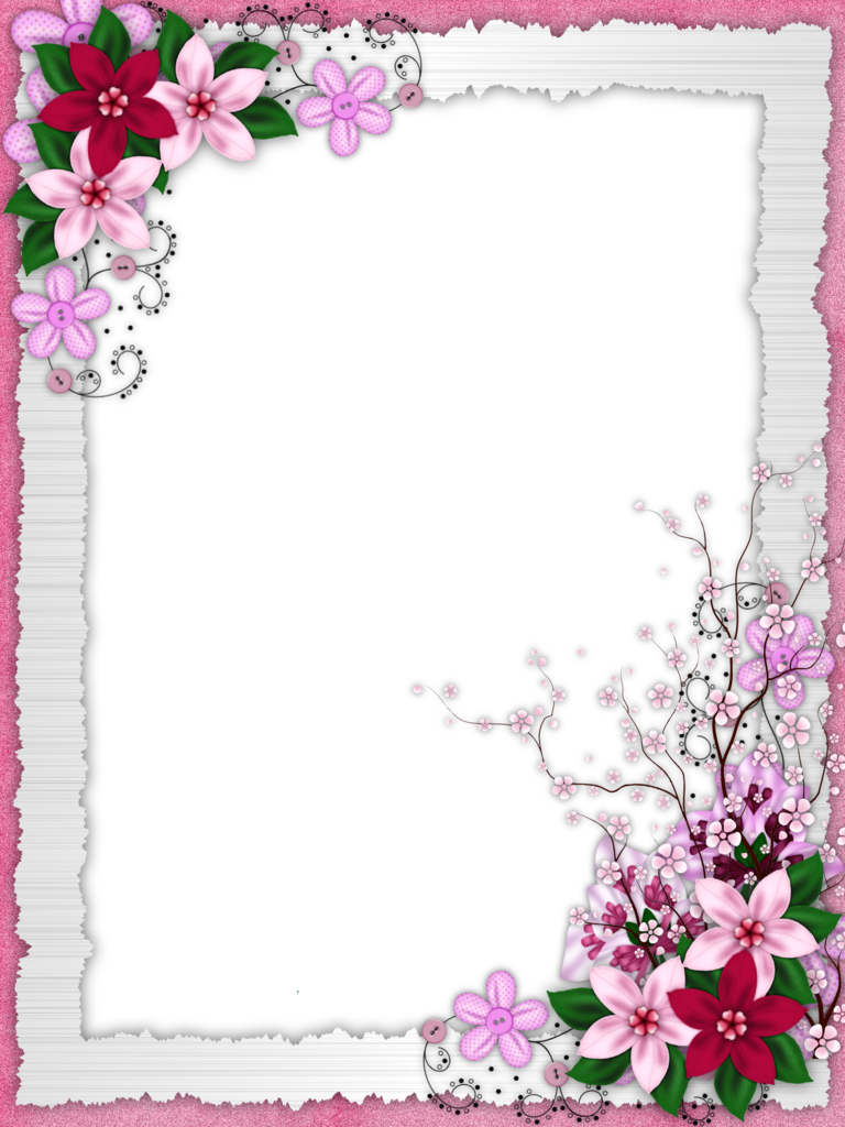 Рамки для ворд цветочки поздравления