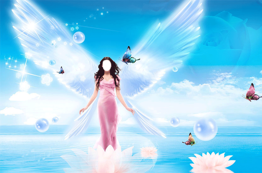 фотоэффект ангел вставить лицо подвесок сваровским выгодным